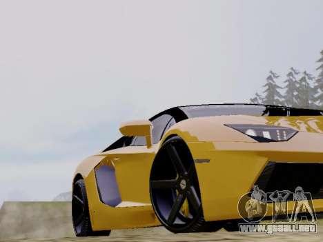 Lamborghini Aventador LP700-4 Vossen para GTA San Andreas vista hacia atrás