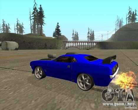 Plymouth Hemi Cuda de NFS Carbon para GTA San Andreas vista posterior izquierda