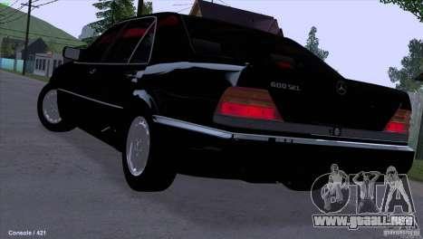 Mercedes-Benz 600SEL para GTA San Andreas left