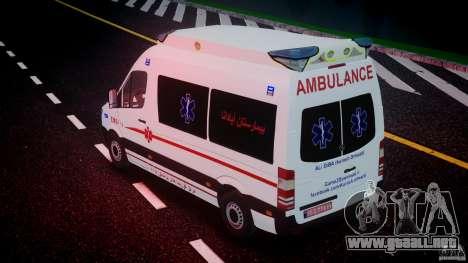 Mercedes-Benz Sprinter Iranian Ambulance [ELS] para GTA motor 4