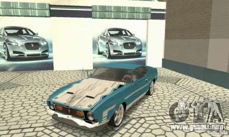 Ford Mustang Mach 1 1971 para visión interna GTA San Andreas