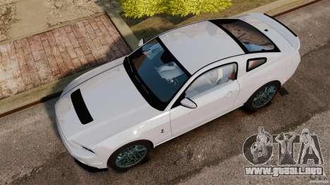 Ford Shelby GT500 2013 para GTA 4 visión correcta
