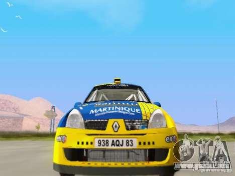 Renault Clio Super 1600 para GTA San Andreas vista hacia atrás