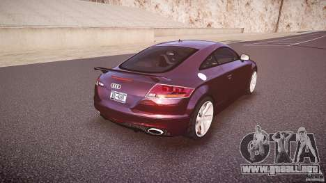 Audi TT RS v3.0 2010 para GTA 4 vista superior