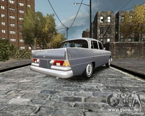 Mercedes-Benz W111 para GTA 4 Vista posterior izquierda