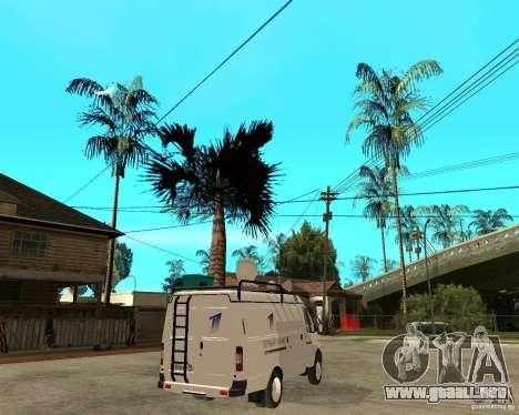 Canal de noticias de gacela 2705 para GTA San Andreas vista posterior izquierda