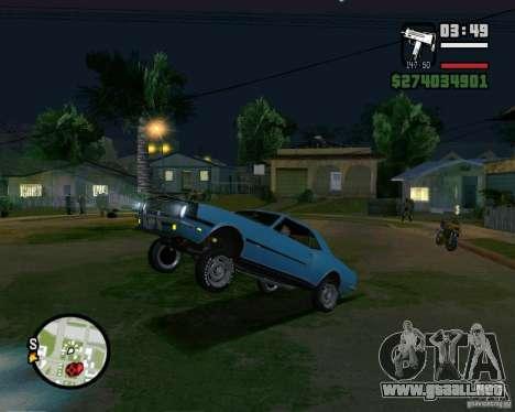 Capacidad para levantar el coche para el dólar para GTA San Andreas