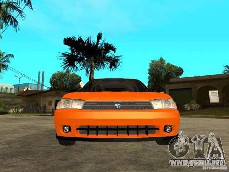 Subaru Legacy 250T 1997 para la visión correcta GTA San Andreas