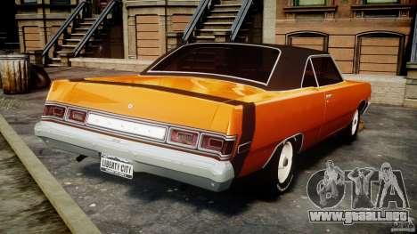 Dodge Dart GT 1975 [Final] para GTA 4 Vista posterior izquierda