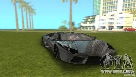 Lamborghini Reventon para GTA Vice City vista posterior