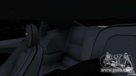 Chevrolet Camaro ZL1 para GTA 4 vista desde abajo