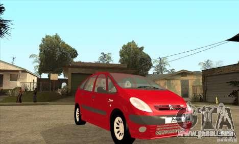 Citroen Xsara Picasso para GTA San Andreas vista hacia atrás