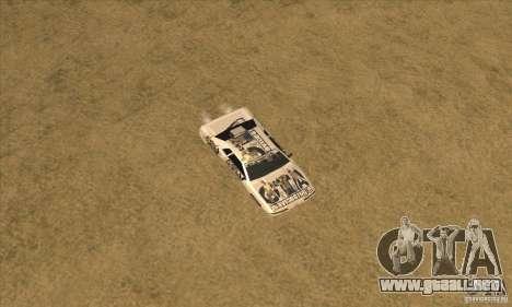 Vinilo www.gtavicecity.ru para GTA San Andreas vista hacia atrás