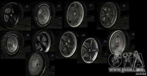 Kits Tuning deporte rueda para GTA San Andreas