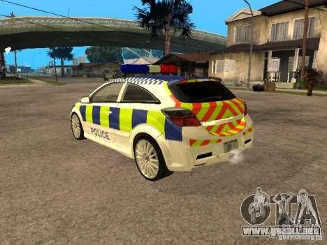 Opel Astra 2007 Police para GTA San Andreas left