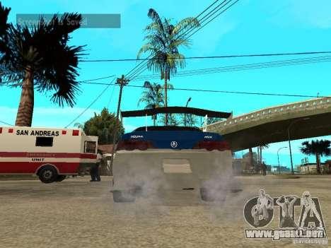 Acura RSX Shark Speed para GTA San Andreas vista posterior izquierda