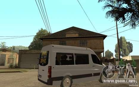Volkswagen Crafter school bus para la visión correcta GTA San Andreas