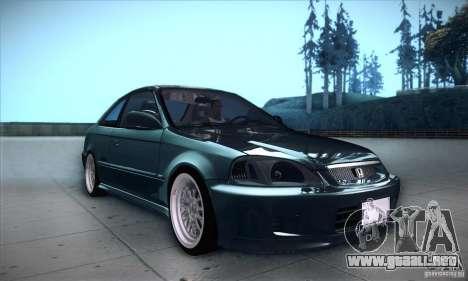 Honda Civic 6Gen para visión interna GTA San Andreas