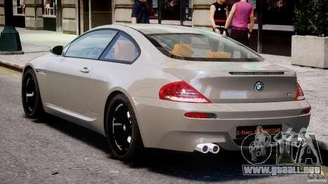 BMW M6 G-Power Hurricane para GTA 4 visión correcta
