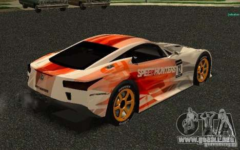 Lexus LFA Speedhunters Edition para la visión correcta GTA San Andreas