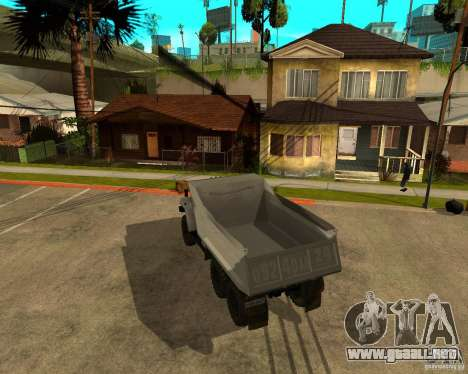 Camión Ural 55571 para la visión correcta GTA San Andreas