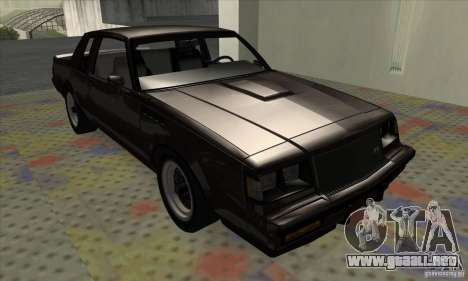 Buick Regal GNX 1987 para GTA San Andreas left