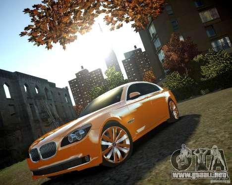 BMW 750Li  2010 para GTA 4 vista hacia atrás