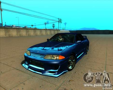 Nissan Skyline GT-R R32 1993 Tunable para vista inferior GTA San Andreas