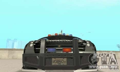 Lamborghini Gallardo Cop V1.0 para visión interna GTA San Andreas