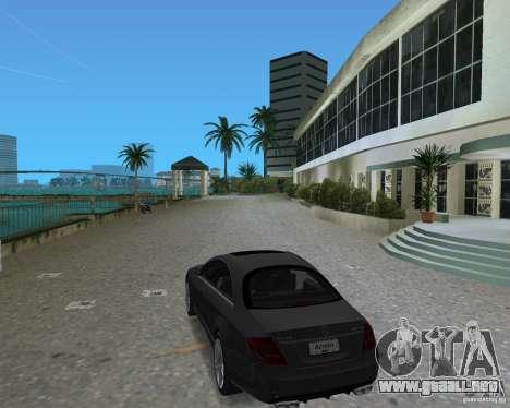 Mercedess Benz CL 65 AMG para GTA Vice City vista posterior