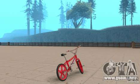 New BMX para GTA San Andreas left