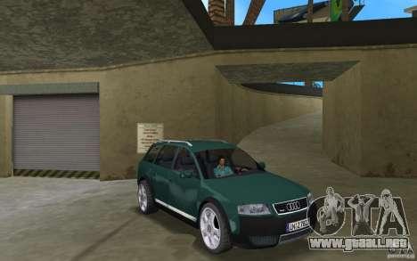 Audi Allroad Quattro para GTA Vice City vista posterior