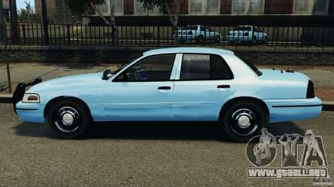 Ford Crown Victoria Police Unit [ELS] para GTA 4 left