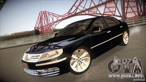 Volkswagen Phaeton W12 para GTA San Andreas vista posterior izquierda