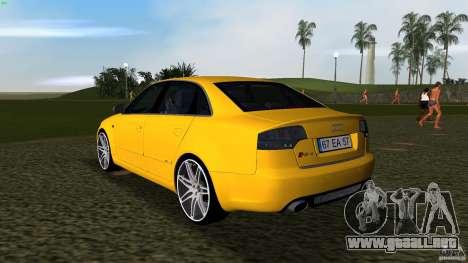 Audi RS4 para GTA Vice City vista lateral izquierdo
