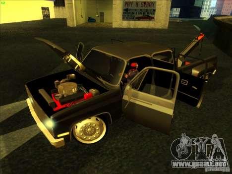 Chevrolet Silverado Towtruck para la visión correcta GTA San Andreas