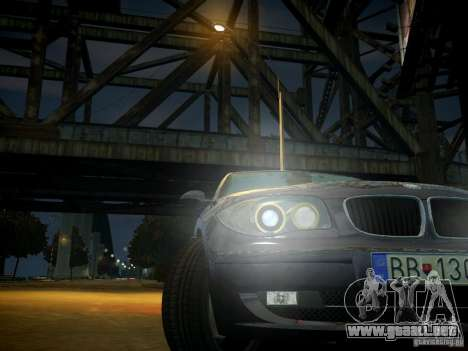 BMW 120i para GTA 4 vista superior