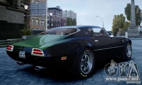 Pontiac Firebird 1971 para GTA 4 left