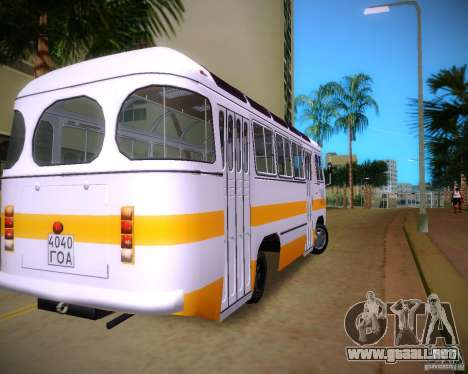 Paz-672 para GTA Vice City vista lateral izquierdo