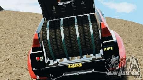 Mitsubishi Pajero Evolution MPR11 para GTA 4 vista hacia atrás