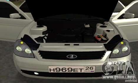 Lada Priora Hatchback para GTA San Andreas interior