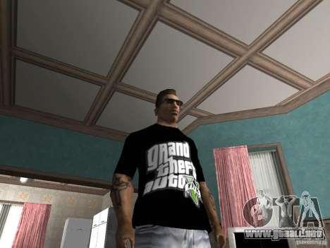 La camiseta GTA 5 para GTA San Andreas segunda pantalla