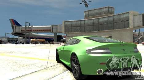 Aston Martin V8 Vantage N400 para GTA 4 Vista posterior izquierda