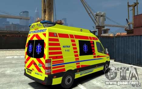 Mercedes-Benz Sprinter 2011 Ambulance para GTA 4 visión correcta