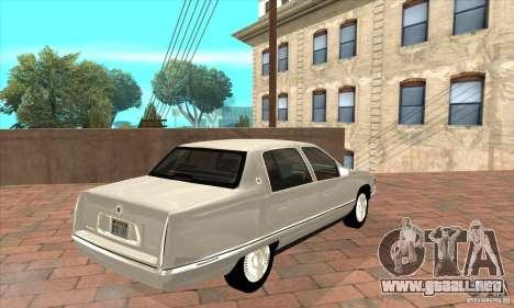 Cadillac Deville v2.0 1994 para la visión correcta GTA San Andreas