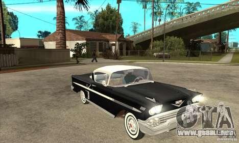 Chevrolet Impala 1958 para visión interna GTA San Andreas