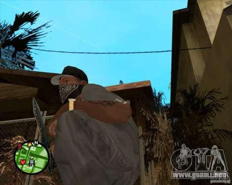 Cuchillo de Counter-strike para GTA San Andreas segunda pantalla