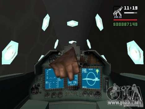 ADF01 Falken para vista lateral GTA San Andreas