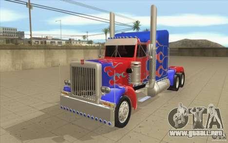 Peterbilt 379 Optimus Prime para GTA San Andreas