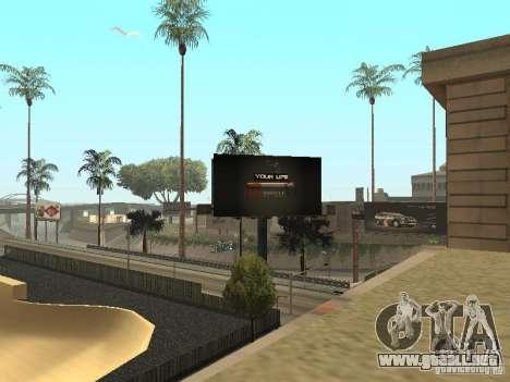 El nuevo Velódromo en LS para GTA San Andreas sucesivamente de pantalla